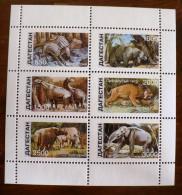 RUSSIE (ex URSS) Animaux Prehistoriques, Prehistorics Animals. 6 Valeurs EMISES EN 1998**  MNH Neuf Sans Charniere (D7) - Stamps