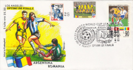 USA'94 SOCCER WORLD CUP, ARGETINA- ROMANIA GAME, SPECIAL COVER, 1994, ROMANIA - World Cup