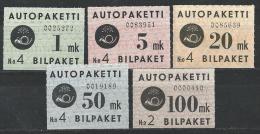 Finlande 1949 Colis Par Autobus N°1/5 Neufs ** MNH