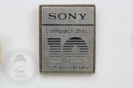 Sony Compact Disc 10th Anniversary -  Pin Badge #PLS - Marcas Registradas