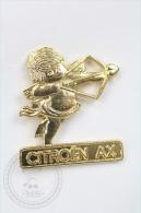 Citroen AX - Cupid, Golden Colour - Pin Badge #PLS - Citroën