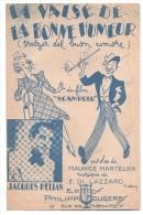Partitions Musicales, LA VALSE DE LA BONNE HUMEUR, Paroles DOLE, Musique ELDO-DI-LAZZARO, Frais Fr : 1.80 - Partitions Musicales Anciennes