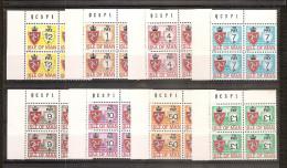 1975 Isola Di Man SEGNATASSE NUOVO STEMMA POSTAGE DUE 4 Serie Di 8v. (17/24) In Quartina MNH** Bl.4 - Isola Di Man