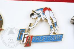 The French Athletics Federation/ Fédération Française D´Athlétisme - Pin Badge #PLS - Atletismo