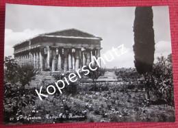 Ansichtskarte Foto Postkarte Italien Tempel Paestum UNESCO Weltkulturerbe - Salerno