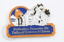 Federation Française De Pulka Et Traineau A Chiens  - Pin Badge #PLS - Invierno