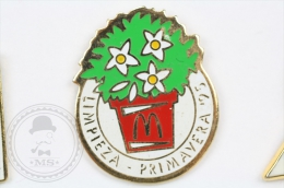 McDonalds Advertising - Limpieza Primavera 1995 - Pin Badge #PLS - Marcas Registradas