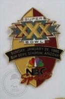 Super XXX Bowl NBC Sports -  American Football - Sun Devil Stadium Arizona - Pin Badge #PLS - Rugby