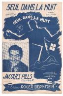 Partitions Musicales, SEUL DANS LA NUIT, Paroles J. SOLAR, Musique LOUIGUY, Ed : Roger BERNSTEIN, Frais Fr : 1.80 - Partitions Musicales Anciennes