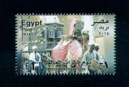 EGYPT / 2014 / OLD WEDDING CEREMONY / CAMEL / WORLD HERITAGE DAY / AGRICULTURAL MUSEUM-EGYPT / MNH / VF - Nuovi