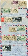 OCÉANIE - ENSEMBLE 10 LETTRES, OBL. DES ANNÉES 1950/55, DONT 3 AVISO FRANCIS GARNIER, POSTES NAVALES FRANCAISES - B/TB - Lettres & Documents