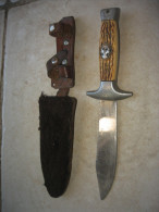 Ancien Couteau De Scout Avec Fourreau Et Lame Inox - Scoutisme