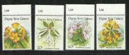PAPUA NEW GUINEA NUOVA 1989 FLORA FLOWERS FIORI FLEURS FLORES COMPLETE SET SERIE MNH - Papouasie-Nouvelle-Guinée
