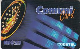 DOMINICANA  - CODETEL Prepaid Card RD$25(thin Card), Used