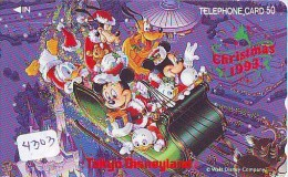 Télécarte Japon * 110-149546 * DISNEY Disneyland * NOEL & Ours Teddy Bear (4303) CHRISTMAS Japan Phone Card WEIHNACH - Disney