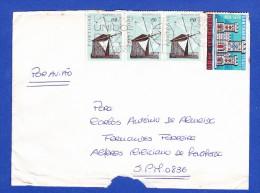 ENVELOPPE -- CACHET - CORREIOS . LISBOA - 1910-... République