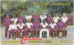 ANTIGUA & BARBUDA(GPT) - West Indies Cricket Team, CN : 222CATA, Tirage %40000, Used - Antigua And Barbuda