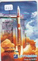 Télécarte Japon ESPACE * Phonecard JAPAN (623) SPACE SHUTTLE * COSMOS * TK * WELTRAUM * LAUNCHING * SATELLITE * - Espacio