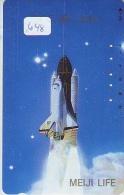 Télécarte Japon ESPACE * Phonecard JAPAN  (648) SPACE SHUTTLE * COSMOS * WELTRAUM * LAUNCHING * SATELLITE * USA - Ruimtevaart