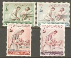 R2 - Lebanon Liban 1963 Centenary Of Red Cross Complete Set MNH Nurse Baby - Lebanon