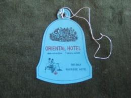 Oriental Hotel,Bangkok-thailand-Vi Ntage Luggage Label,Etiquette Valise - Hotel Labels