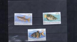 INDONESIA Nº 1005 AL 1007 - Fische