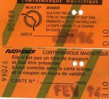 CONTREMARQUES MAGNETIQUES  METRO  RATP/SNCF  Carte Orange Mensuelle (lot de 2)