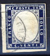 IV Emissione Di Sardegna - 20 Cent. Indaco Violaceo Scuro (15Ea) - Sardinia