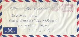 "Nigeria 1996 Lagos Palm Pitney Bowes-GB ""6300"" Meter Franking EMA Counterfeit On Postally Used Cover - Nigeria (1961-...)"