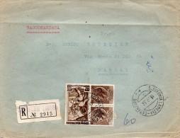 1954   LETTERA RACCOMANDATA  CON ANNULLO S . EUFEMIA LAMEZIA CATANZARO - 6. 1946-.. Repubblica