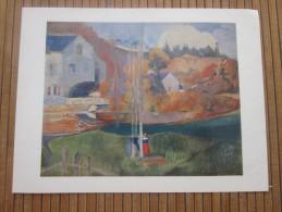 Reproduction Paysages De Bretagne Le Moulin De Paul Gauguin Vendu Au Profit Du Comité D´aide Aux Grands Malades Des PTT - Reproductions