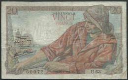 Billets Vingt Fr Pecheur 28/01/1943 C - 1871-1952 Anciens Francs Circulés Au XXème