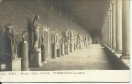 CARTOLINA ROMA - MUSEO DELLE TERME - GALLERIA - FORMATO PICCOLO - EDIZ. N.P.G. - Musei