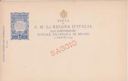 Esposizione Postale Filatelica Di Milano 1894 Visita Della Regina D'Italia - SAGGIO - Esposizioni