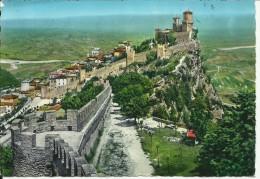 SAN MARINO CARTOLINA 1967 POST CARD PANORAMA VIEW E FIUME MARECCHIA RIVER VIAGGIATA - Saint-Marin