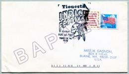 Enveloppe États-Unis (Tionesta) (12-08-1991) - Festival Indien (JS) - American Indians
