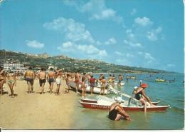 ABRUZZO 1986 CARTOLINA POST CARD VASTO SPIAGGIA MARE BEACH SEA  VIAGGIATA - Italia
