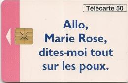 CARTE-PUCE-PRIVEE-PUBLIC- 50U- EN-723-GEM-08/93-MARIE ROSE R°GLACEE-UTILISE--TBE- - 50 Einheiten