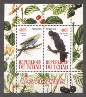 Chad 2010 Birds, Parrots, Perf. Sheet, MNH S.089 - Tsjaad (1960-...)