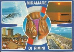 RIMINI 1987 CARTOLINA POST CARD MIRAMARE SEA  VIAGGIATA - Rimini