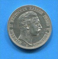 Allemagne  2  Mark   1905 - 2, 3 & 5 Mark Plata