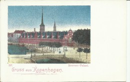 DANMARK GRUSS AUS KOPENHAGEN  CARTOLINA CARD UNION POSTALE UNIVERSELLE - Denmark