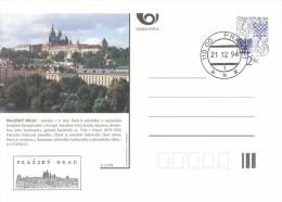 Czech Rep. / Postal Stationery (1994) Castles And Chateaux Of The Czech Republic - Cachet/FDC (12) Prazsky Hrad (I0668) - Châteaux
