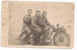 OD@ CARTE PHOTO GROS PLAN PHOTO ANCIENNE MOTO, PEUGEOT P105 - Motos