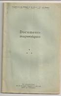 @ SUPPLEMENT AU BULLETIN N°24 DU GRAND ORIENT DE FRANCE  DOCUMENTS MACONNIQUES FRANC MACONNERIE - Esotérisme