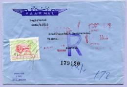Air Mail Registered Letter IRAN To Vienna (575) - Iran
