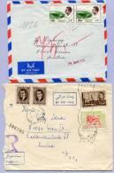 Air Mail 2 Letters Iran Persien TEHERAN To VIENNA  (864) - Irak