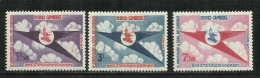 KAMPUCHEA - CAMBOGIA CAMBODIA CAMBOGE 1964 EMBLEM ROYAL CAMBODIAN AIRLINE EMBLEMA REALE LINEA AEREA CAMBOGIANA SET MNH - Kampuchea