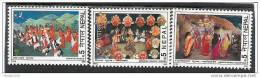 NEPAL, 1999, Traditional Dances,3v Complete Set, MNH(**), - Nepal