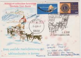 CARTOLINA - AUSTRIA - ÖSTERREICH - 1980 - Postbeförderung Mit Polar Hunde Schlitten / Spart Energie / Lions - Tannhei... - Filatelia Polare